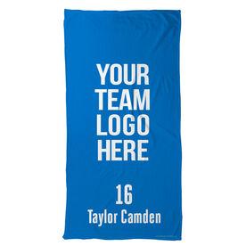 Hockey Beach Towel Custom Team Logo