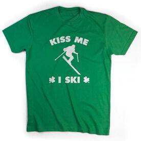 Skiing Tshirt Short Sleeve Kiss Me I Ski