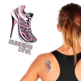 Running Diva SportTATS Temporary Running Tattoo