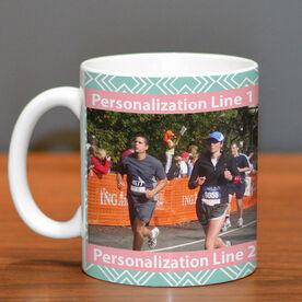 Running Ceramic Mug Custom Photo with Pattern