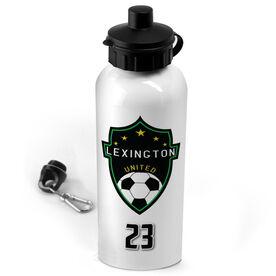 Soccer 20 oz. Stainless Steel Water Bottle Custom Soccer Logo with Team Number