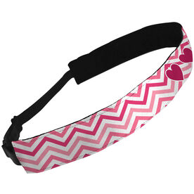 Julibands No-Slip Headbands Chevron With Hearts