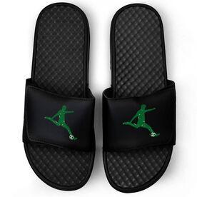 Soccer Black Slide Sandals - Guy Player