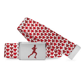 Running Lifestyle Belt Male Runner Triangle Pattern