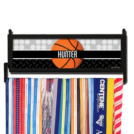 AthletesWALL Personalized 2 Tier Patterns with Basketball Medal Display