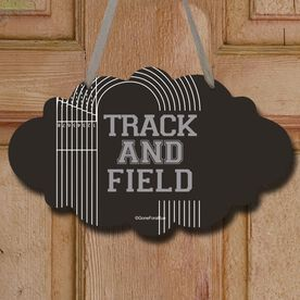 Track and Field Cloud Sign Track and Field Lanes
