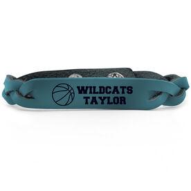 Basketball Leather Engraved Bracelet Personalized