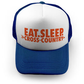 Cross Country Trucker Hat - Eat Sleep Cross Country