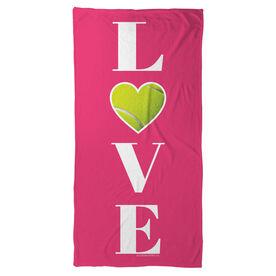 Tennis Beach Towel LOVE with Ball