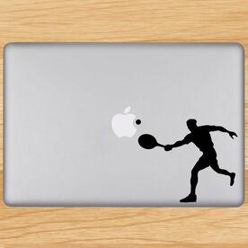 Guy Tennis Player Removable ChalkTalkGraphix Laptop Decal
