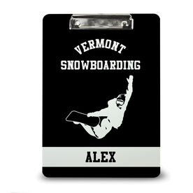 Snowboarding Custom Clipboard Personalized Snowboard Team