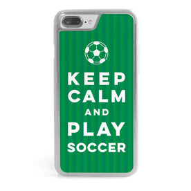 Soccer iPhone® Case - Keep Calm Play Soccer