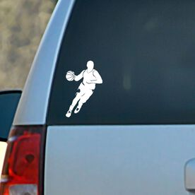 Vinyl Car Decal Basketball Guy Dribbling Silhouette