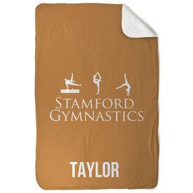 Gymnastics Sherpa Fleece Blanket Custom Team Logo