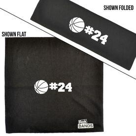 RokBAND Multi-Functional Headband - Personalized Number Basketball Ball
