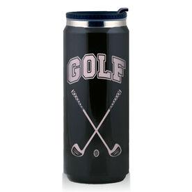 Stainless Steel Travel Mug Golf Crossed Clubs