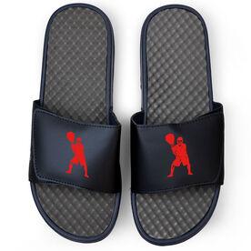 Lacrosse Navy Slide Sandals - Goalie