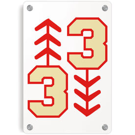 Baseball Metal Wall Art Panel - Three Up Three Down