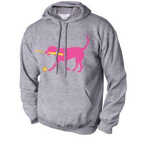 Softball Standard Sweatshirt Mitts the Softball Dog
