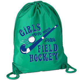 Girls Just Wanna Play Field Hockey Sport Pack Cinch Sack