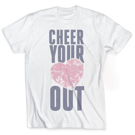 Vintage Cheerleading T-Shirt - Cheer Your Heart Out