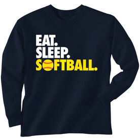 Softball T-Shirt Long Sleeve Eat. Sleep. Softball.
