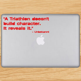 A Triathlon Builds Character Removable TRIForeverGraphix Laptop Decal