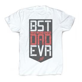 Running Vintage T-Shirt - Best Dad Ever Shield