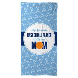 Basketball Beach Towel My Favorite Player