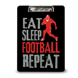 Football Custom Clipboard Eat Sleep Football Repeat