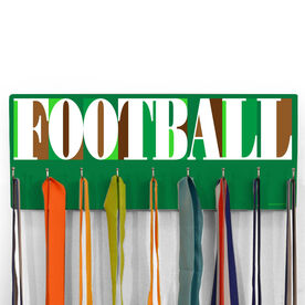 Football Hooked on Medals Hanger - Football Mosaic