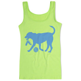 Volleyball Women's Athletic Tank Top Holly The Volleyball Dog