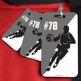 Basketball Bag/Luggage Tag Personalized 2 Color Male Player