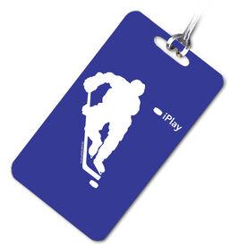 Hockey Bag/Luggage Tag iPlay Hockey Boy (Royal Blue/White)