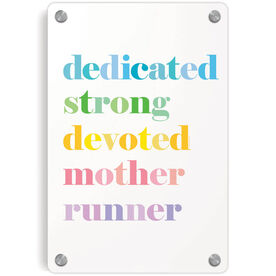 Running Metal Wall Art Panel - Mantra Mother