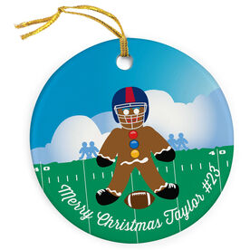 Football Porcelain Ornament Gingerbread Man