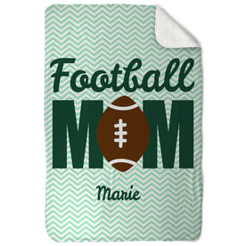Football Sherpa Fleece Blanket That's My Mom