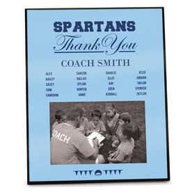 Swimming Photo Frame Thank You Coach Roster