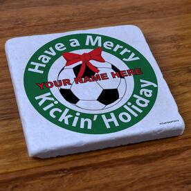 Soccer Holiday - Stone Coaster