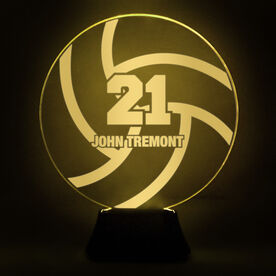 Volleyball Acrylic LED Lamp With Name and Number