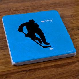 iPlay Hockey (Blue) - Stone Coaster