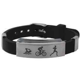 Swim Bike Run Silicone Bracelet