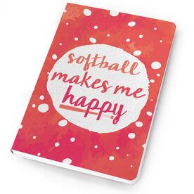 Softball Notebook Makes Me Happy