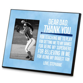 Softball Photo Frame Dear Dad