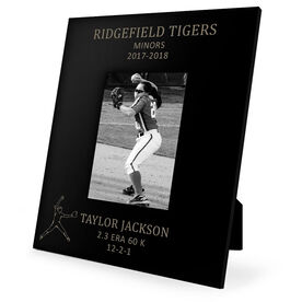 Softball Engraved Picture Frame - Pitcher Stats