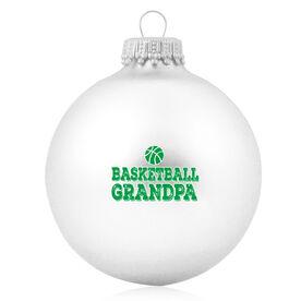 Basketball Glass Ornament Basketball Grandpa