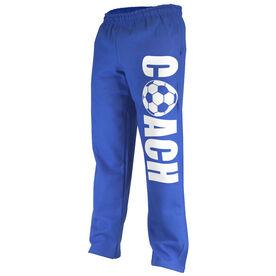 Soccer Fleece Sweatpants Coach with Soccer Ball