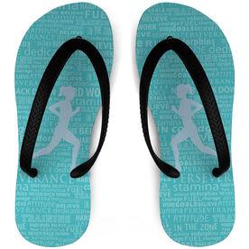 Running Flip Flops Inspiration Words Female