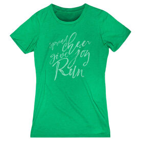 Women's Everyday Runners Tee - Spread Cheer Give Joy Run