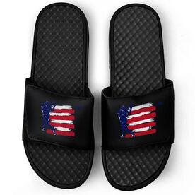 Football Black Slide Sandals - USA Football